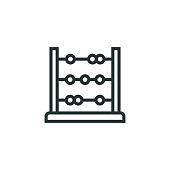 istock Abacus Line Icon 1301262288
