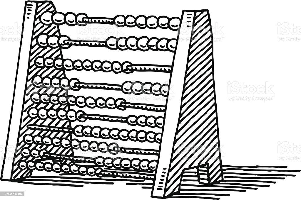 Abacus Mathematics Drawing vector art illustration