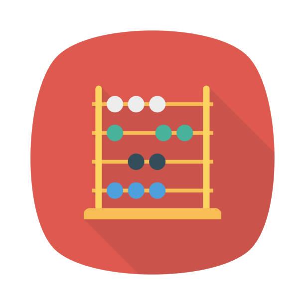 bildbanksillustrationer, clip art samt tecknat material och ikoner med abacus matematikutbildning - abakus