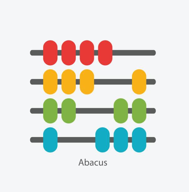 bildbanksillustrationer, clip art samt tecknat material och ikoner med abacus sign symbol icon vector illustration - abakus