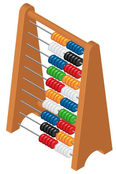 bildbanksillustrationer, clip art samt tecknat material och ikoner med abacus symbol vektor - abakus