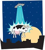 UFO Abducting Cow