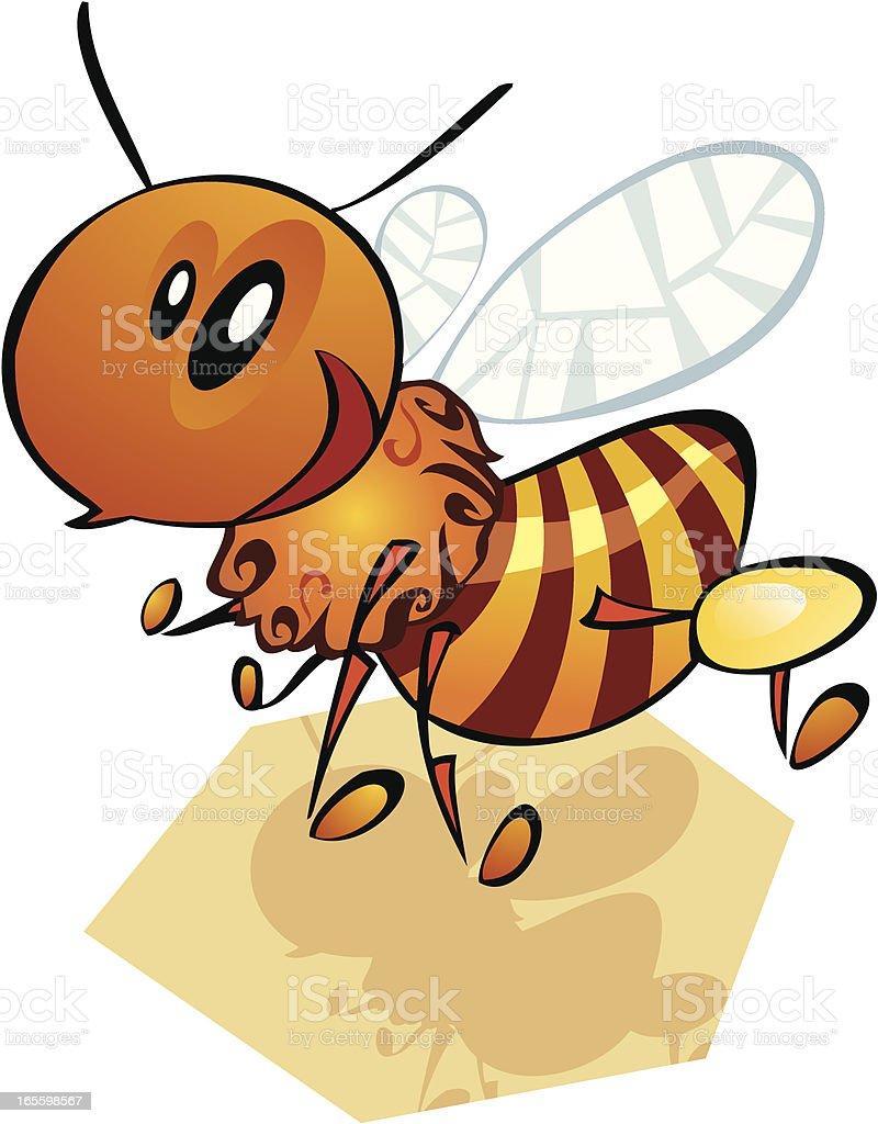 abeja caricaturizada ilustración de abeja caricaturizada y más banco de imágenes de abeja libre de derechos