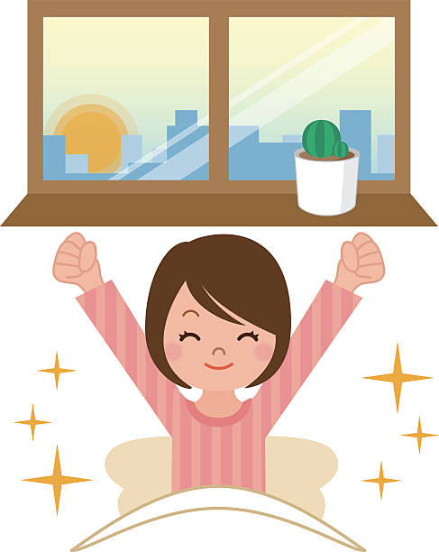 Ability to wake up vector art illustration