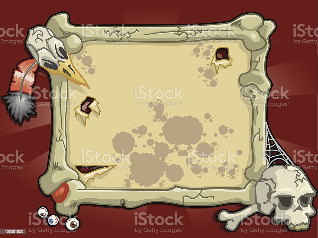 Aboriginal or Cannibal Frame royalty-free stock vector art
