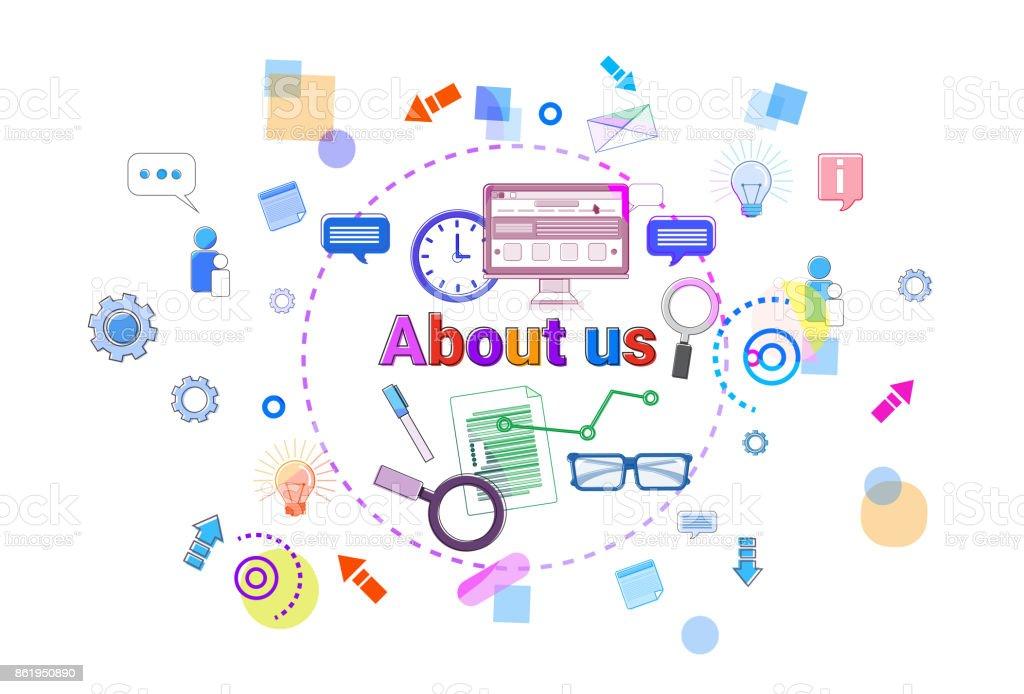 a51832eaec Sobre nós Business Developer informações de contato conceito Banner  ilustração de sobre nós business developer informações