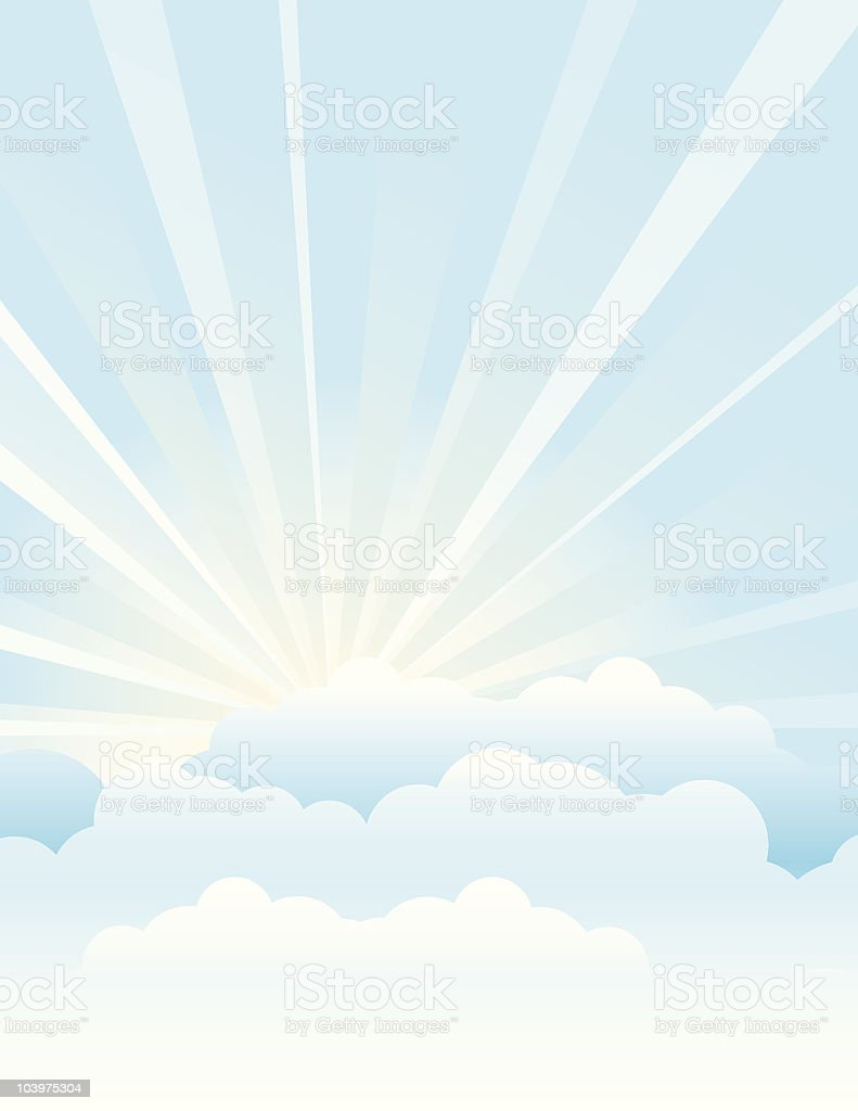 Above the Clouds royalty-free stock vector art