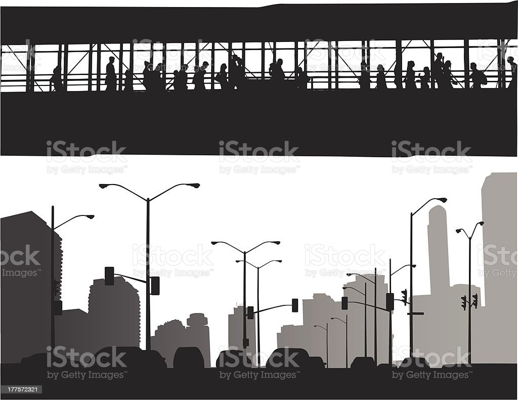 Above The Traffic royalty-free stock vector art