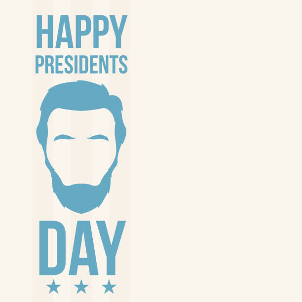 abraham lincoln, happy presidents day. holliday in united states. vector illustration. - presidents day stock illustrations, clip art, cartoons, & icons