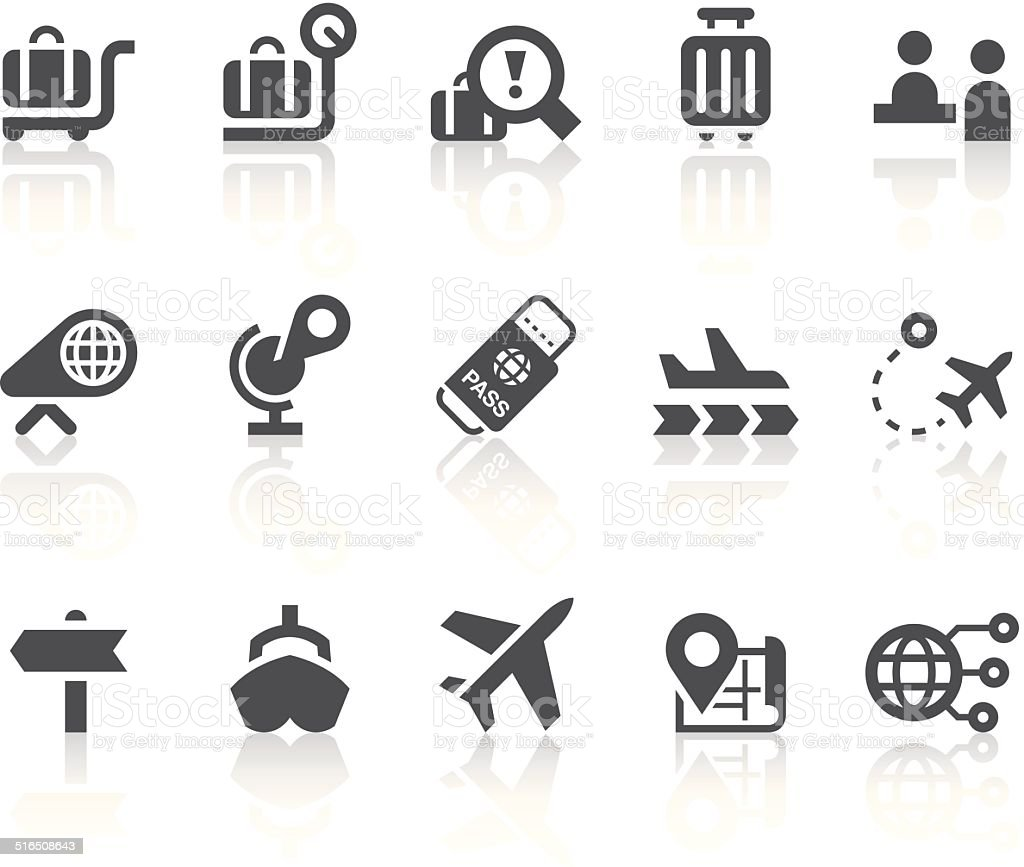 Abroad Icons   Simple Black Series vector art illustration