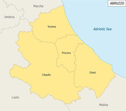 Abruzzo administrative map