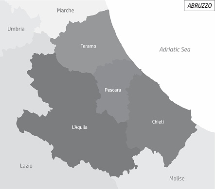 Abruzzo grayscale map