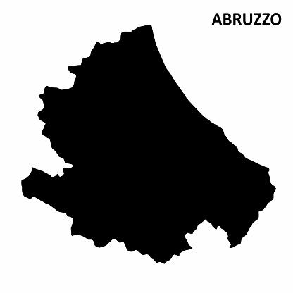 Abruzzo region map