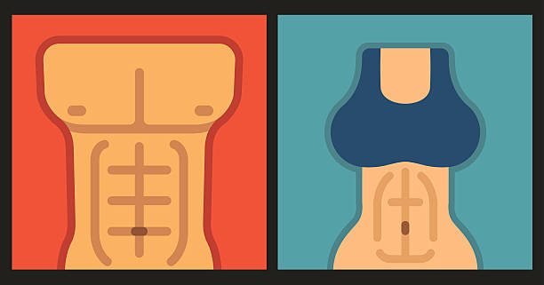 Abs icons vector art illustration
