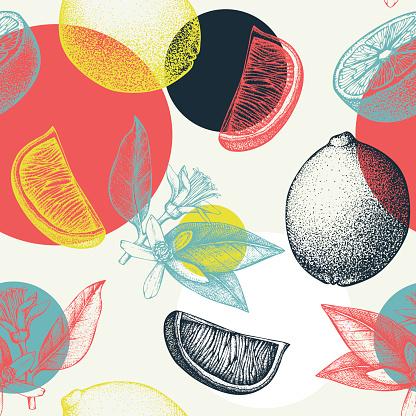 Absrtact citrus background