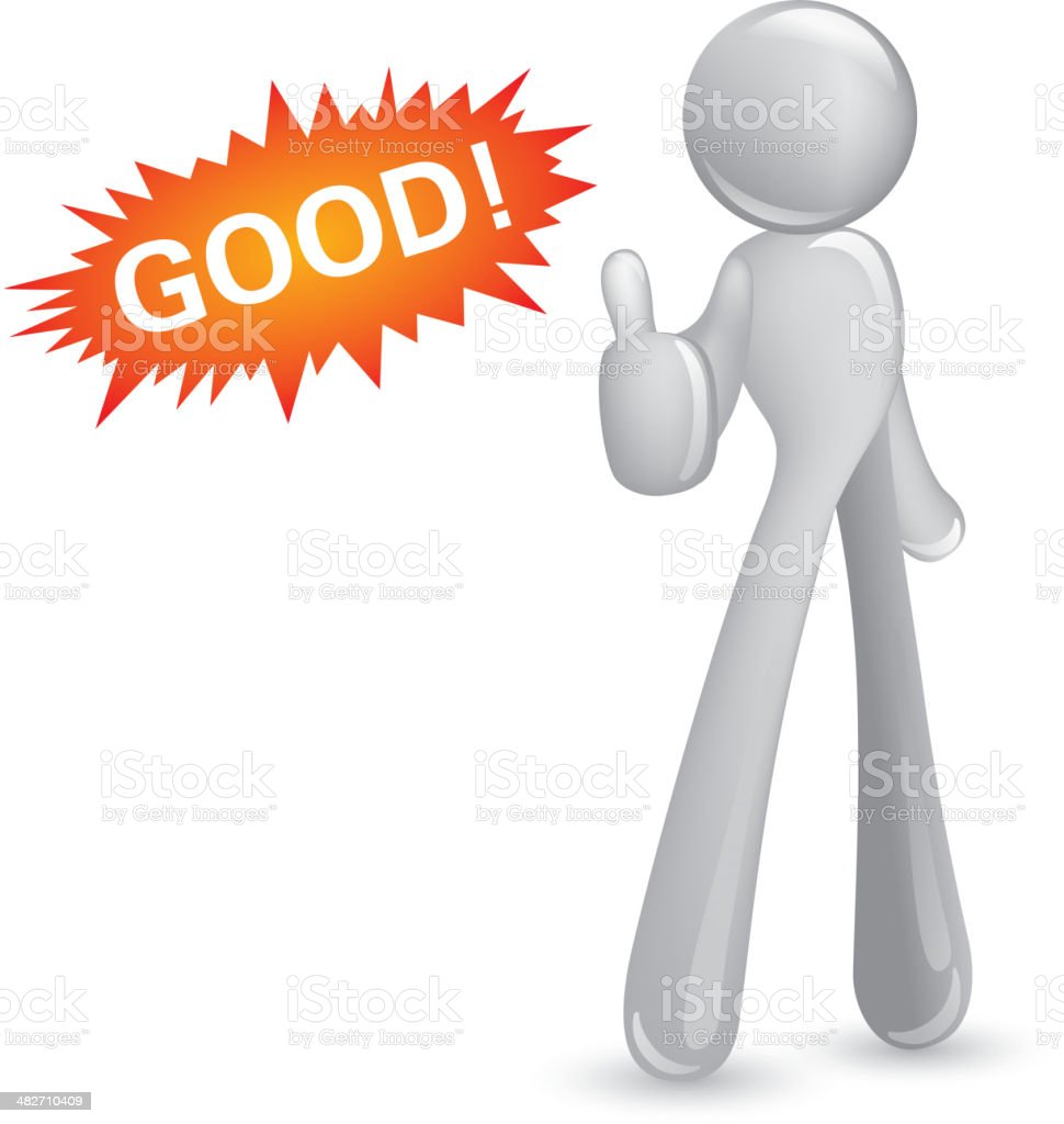 Abstact man thumbs-up royalty-free stock vector art