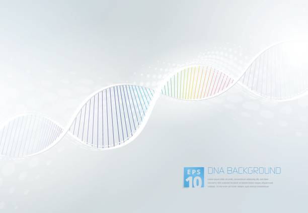 DNA Abstarct Background vector art illustration