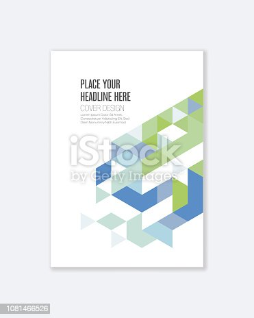 Cover design for Annual Report, Catalog or Magazine, Book or Brochure, Booklet or flyer. Layout template in A4.