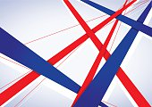 Vector geometric banner in France flag concept, Poster Template Vector Background