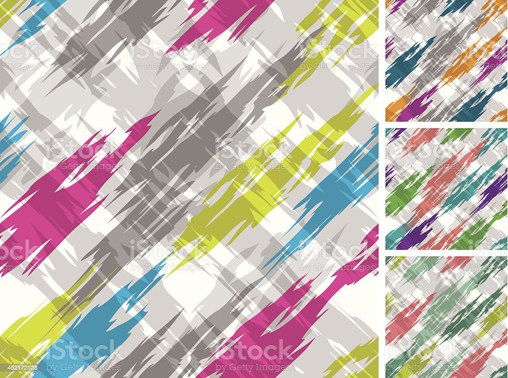 Abstract 1980's Seamless Pattern on White Ground royalty-free stock vector art