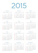 Abstract 2015 Calendar Template - Illustration