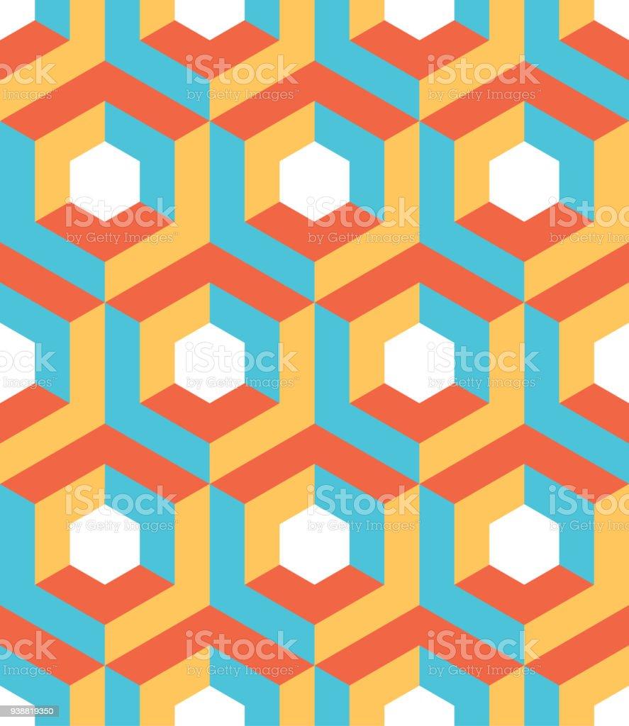 Abstrakte 3dhintergrund Isometrische Sechseckigen Formen In