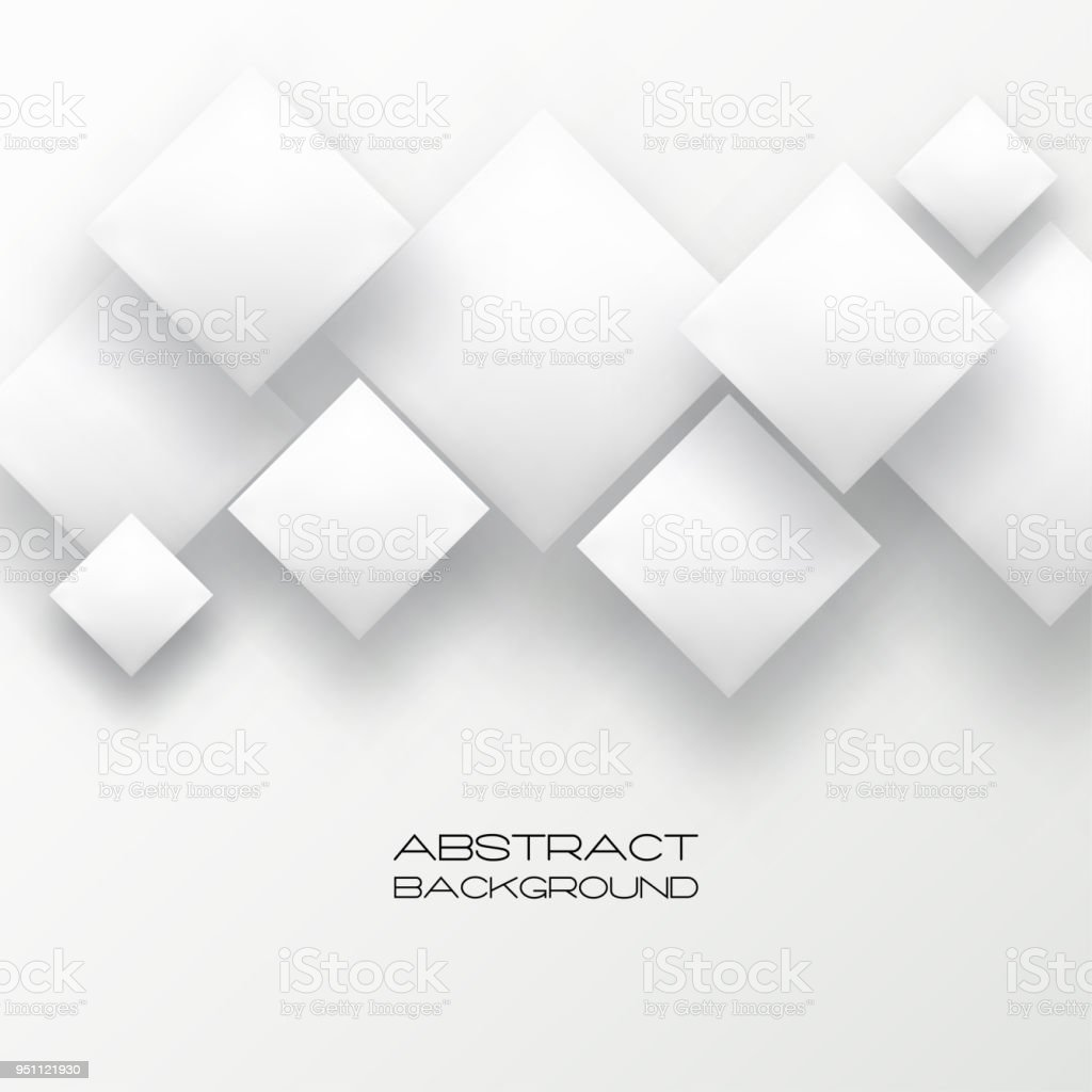 abstract 3d background with white paper geometric shapes rectangle
