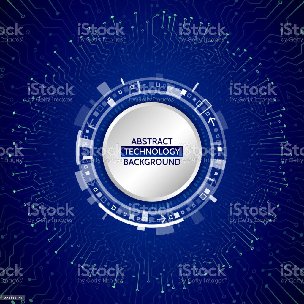 Abstract 3d Blue Circuit Board Hightech Technology Abstact Background With And Binary Code Stock Images High Tech Royalty Free