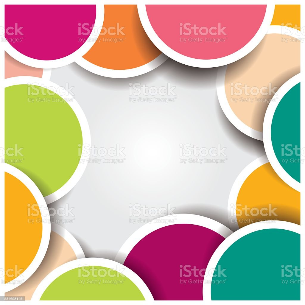 Colorful abstract design background vector art free vector - Abstract 3d Circle Background Colorful Pattern Design Vector Illustration Royalty Free Stock Vector