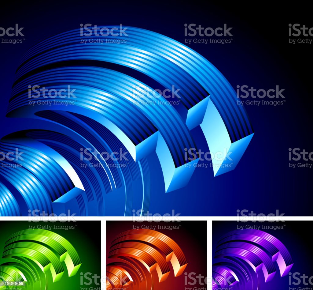 Abstract 3D circular shapes Background royalty-free abstract 3d circular shapes background stock vector art & more images of abstract