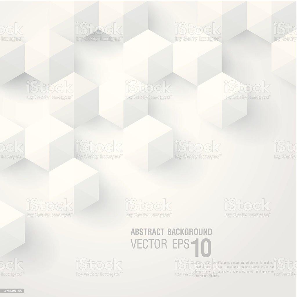 Gut gemocht Abstrait 3d Cube Design Fond Géométrique Stock Vecteur Libres de  NR78