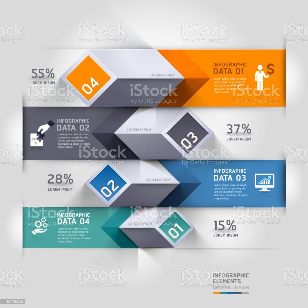 Abstrakt 3d-Diagramm Infografiken Optionen. – Vektorgrafik