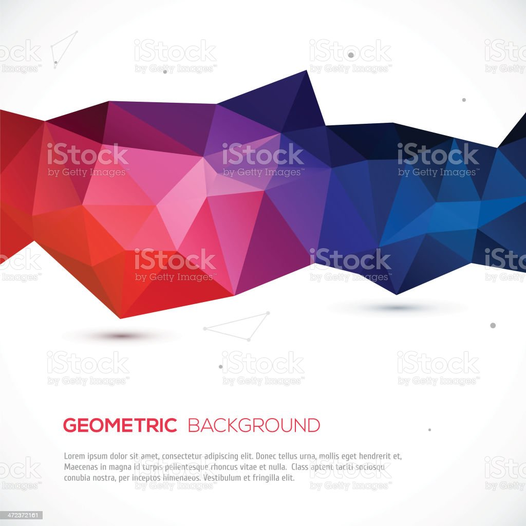 Abstract 3D geometric colorful background. vector art illustration