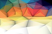 Vector illustration Abstract 3D Geometric, Polygonal, Triangle pattern shape and multicolored,blue, purple, yellow and green background