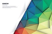 Abstract 3D Geometric, Polygonal, Triangle pattern