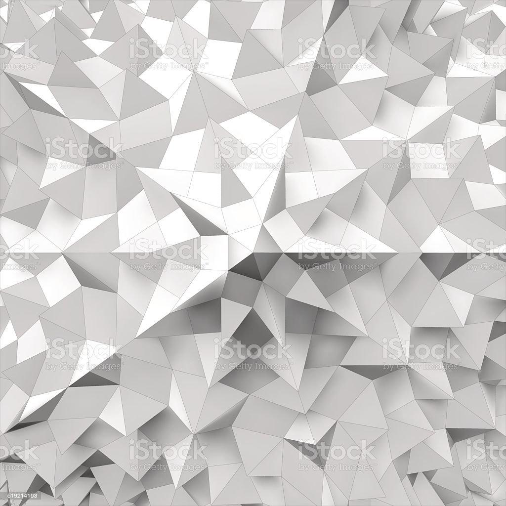 Abstract 3d geometrical background. Mosaic. Vector illustration. vector art illustration