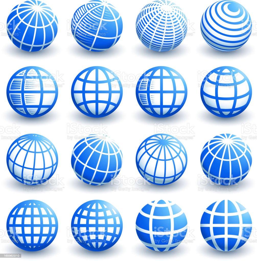 抽象的な 3 D 地球のロイヤリティフリーのベクターグラフィックデザイン
