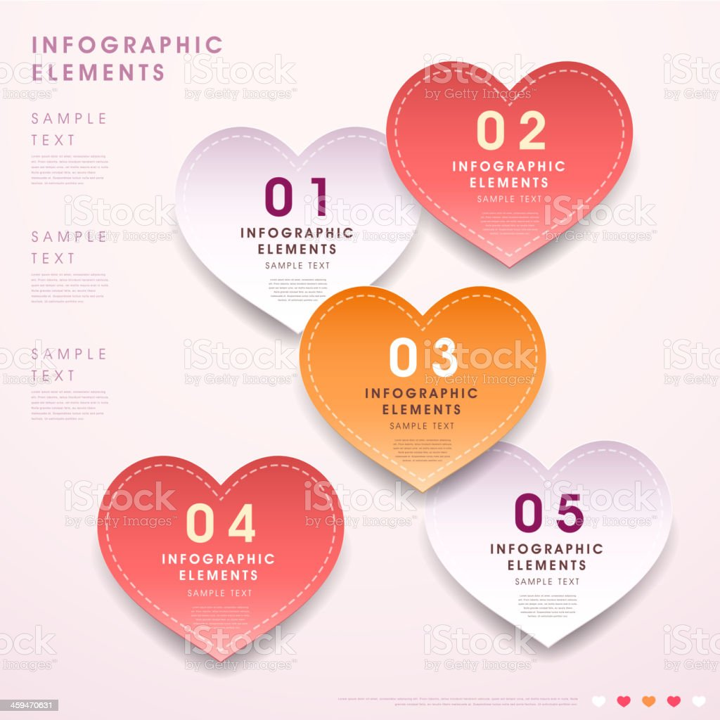 abstract 3d heart shape tag infographics royalty-free abstract 3d heart shape tag infographics stock vector art & more images of abstract