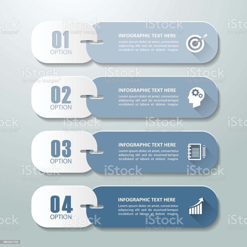Abstract 3d infographic 4 options,  Business concept infographic template can be used for workflow layout, diagram, number options, timeline or milestones project. royalty-free abstract 3d infographic 4 options business concept infographic template can be used for workflow layout diagram number options timeline or milestones project stock vector art & more images of brochure