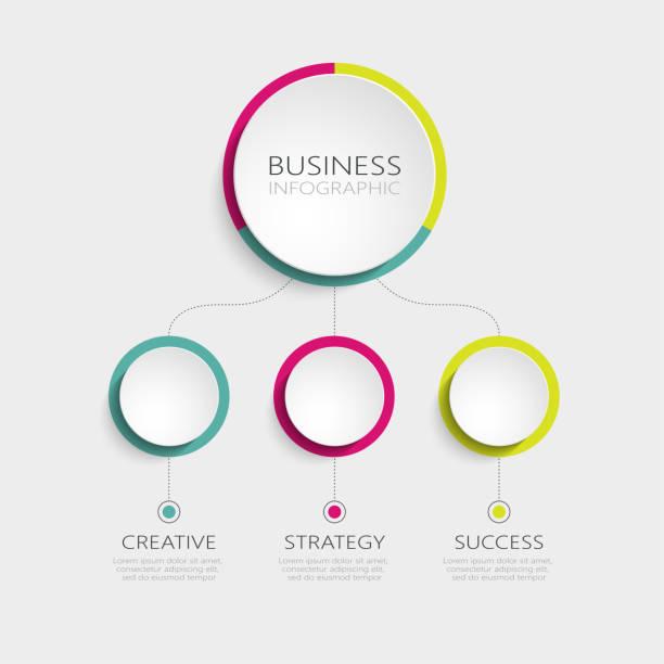 ilustrações de stock, clip art, desenhos animados e ícones de abstract 3d infographic template with 3 steps for success - terceira
