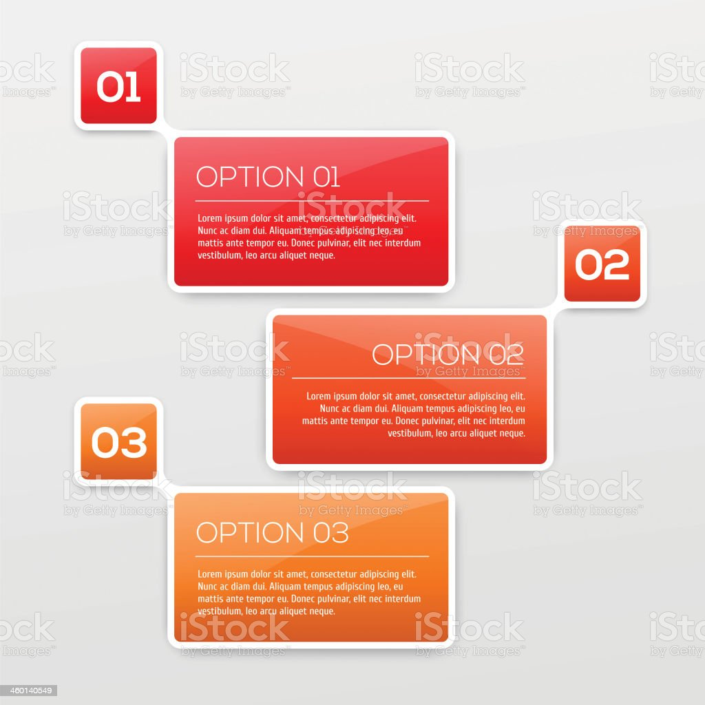 Abstract 3D Infographics royalty-free stock vector art