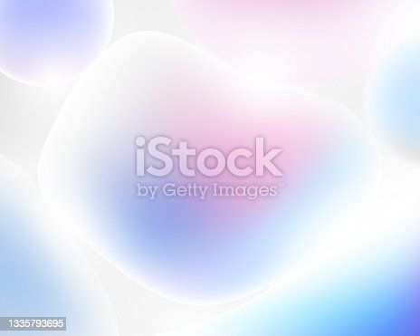 istock Abstract 3d liquid colorful freeform shapes composition background. 3d Vector illustration 1335793695
