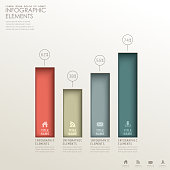 realistic vector abstract 3d paper infographic elements