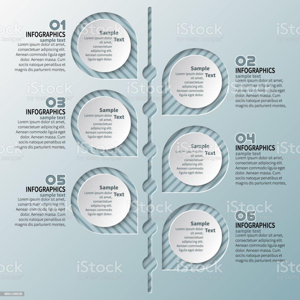 Abstrakte 3D Papier Infografiken - Lizenzfrei Abstrakt Vektorgrafik