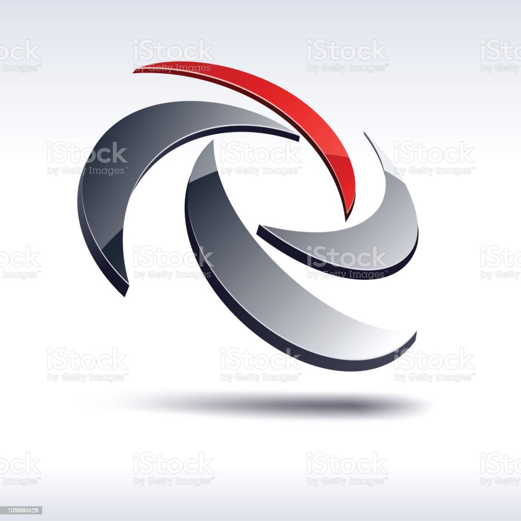 Abstract 3d rotate sign. royalty-free abstract 3d rotate sign stock vector art & more images of abstract