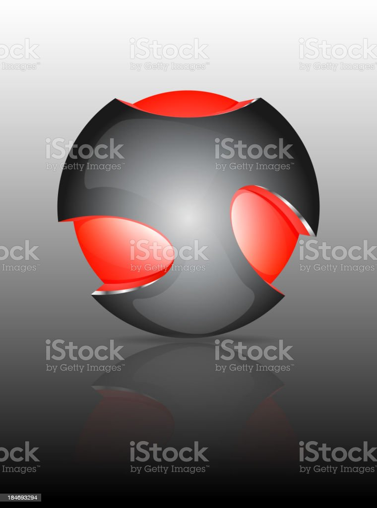 Abstract 3d sphere logos royalty-free stock vector art