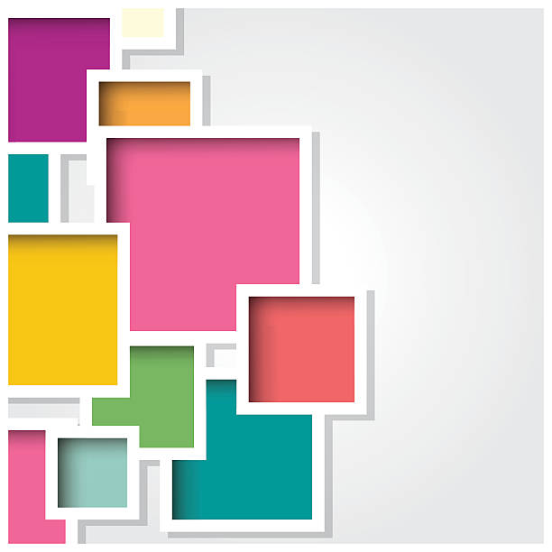 Abstract 3d square background, colorful tiles, geometric, vector illustration vector art illustration
