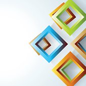 abstract 3D square pattern banner background for design.(ai eps10 with transparency effect)