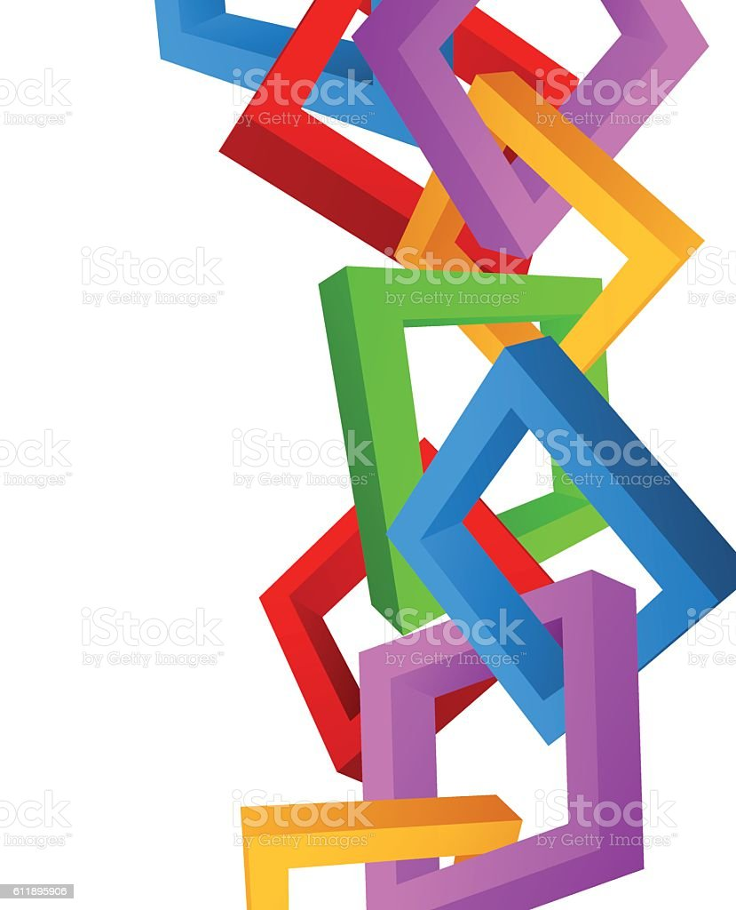 Abstract 3d squares vector art illustration