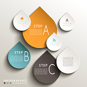 vector abstract 3d drop tag infographic elements